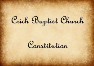 The Church Constitution of Crich Baptist Church