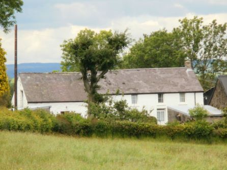 The farmhouse at Cefncoed where William Williams grew up