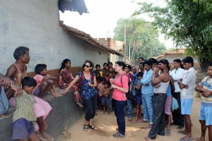 Lucy & Anamika in one of the rural villages