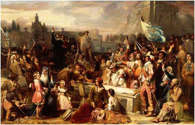 Signing of the National Covenant March 1st 1638 in Greyfriars Kirkyard Edinburgh