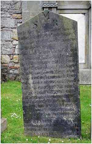 Words on the Samuel Rutherford Gravestone