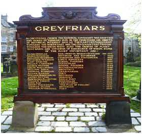 Memorial - Old Greyfriars Church, Edinburgh